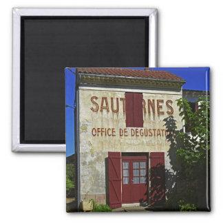 Sauternes Office de Degustation (degustación de vi Imán Cuadrado