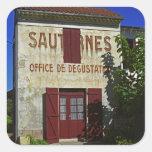 Sauternes Office de Degustation (degustación de vi Calcomania Cuadrada Personalizada