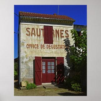 Sauternes Office de Degustation (degustación de vi Póster