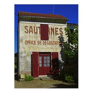 Sauternes Office de Degustation (Wine Tasting Postcard