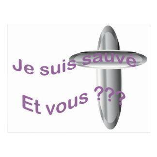 Sauvé de los suis de Je.  ¿Y vous??? Tarjetas Postales