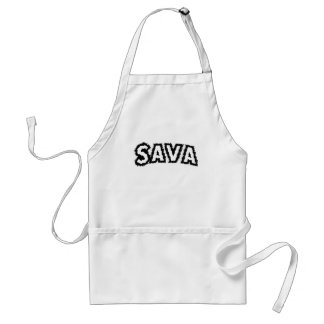 Sava (Saba) Means Grandfather In Hebrew Adult Apron