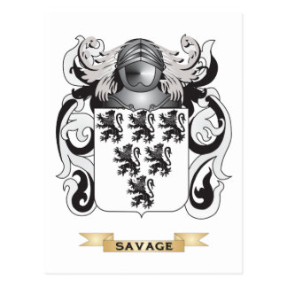 Savage Coat of Arms (Family Crest) Postcard