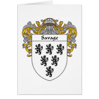 Savage Coat of Arms (Mantled) Card