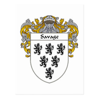 Savage Coat of Arms (Mantled) Post Card