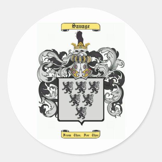 savage (english) classic round sticker