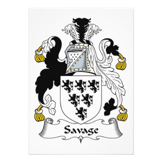Savage Family Crest Personalized Invite