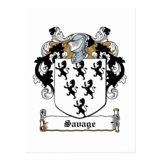 Savage Family Crest Postcards