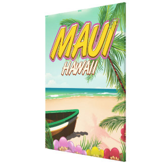Savai'i Fiji Samoa travel poster Canvas Print