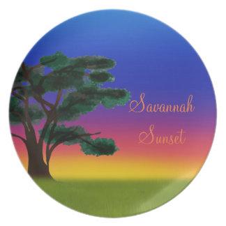 Savanna Elephant Row by The Happy Juul Company Plate