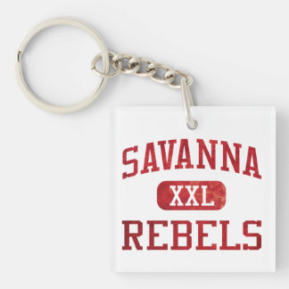 Savanna Rebels Athletics Keychain