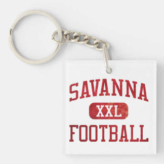 Savanna Rebels Football Keychain