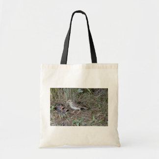 Savanna Sparrow with nest Budget Tote Bag