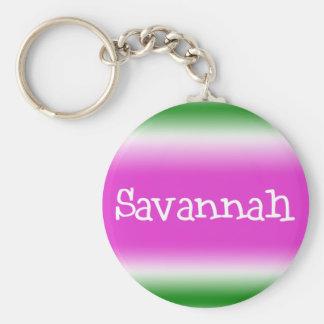 Savannah Basic Round Button Keychain
