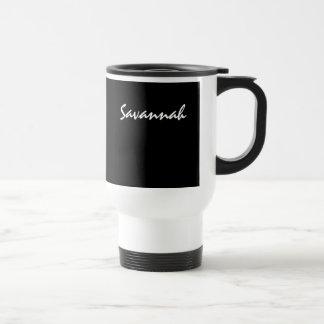 Savannah Black and White Commuter Mug