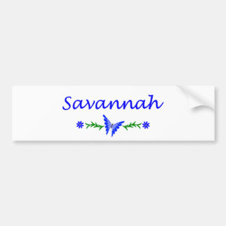 Savannah (Blue Butterfly) Bumper Stickers