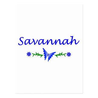 Savannah (Blue Butterfly) Postcard