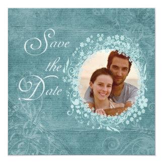 Savannah Blue Romantic Save the Date Photo Card