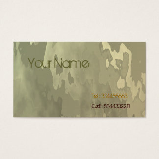 Savannah Camo Business Card