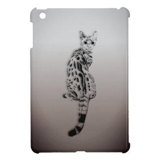 Savannah Cat Caught by Surprise iPad Mini Cover
