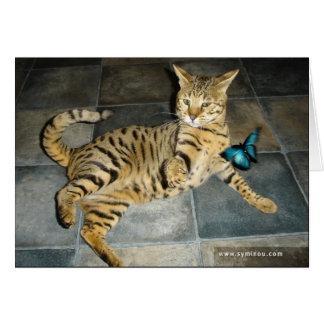 Savannah Cat surprise Card