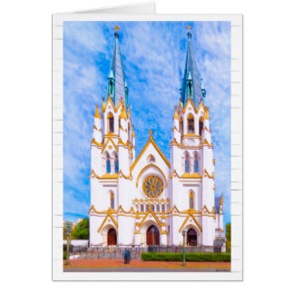 Savannah Cathedral - Georgia Architecture Card