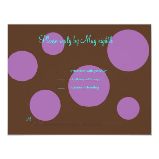 Savannah Chocolate Pink RSVP Card