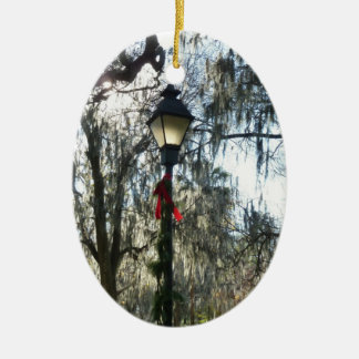 Savannah Christmas Ornament Photo Street Light