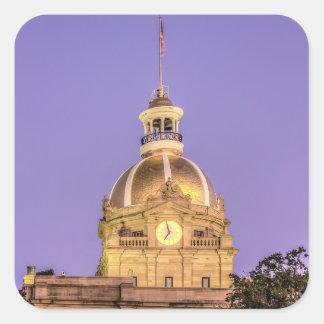 Savannah City Hall Square Sticker