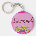 Savannah Daisy Keychain