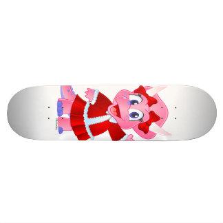 Savannah Dino Christmas Outfit Skateboard