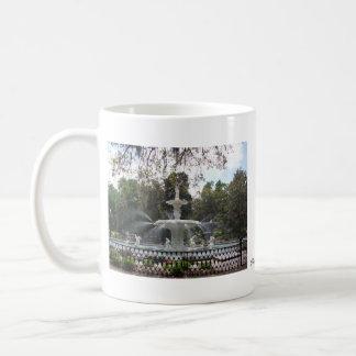 Savannah fountain classic white coffee mug