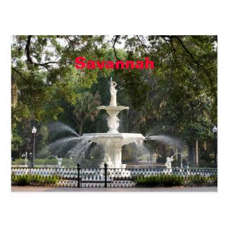 Savannah Fountain Postcard