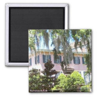 Savannah GA 2 Inch Square Magnet