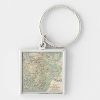 Savannah, Ga and vicinity Keychain