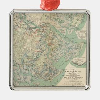 Savannah, Ga and vicinity Metal Ornament