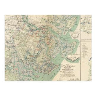 Savannah, Ga and vicinity Postcard