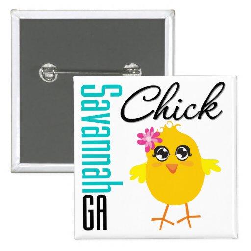 Savannah GA Chick Buttons