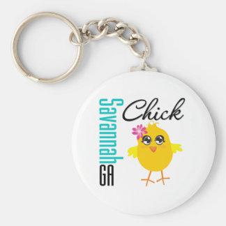 Savannah GA Chick Key Chain