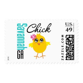 Savannah GA Chick Stamp