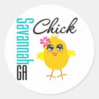Savannah GA Chick Sticker