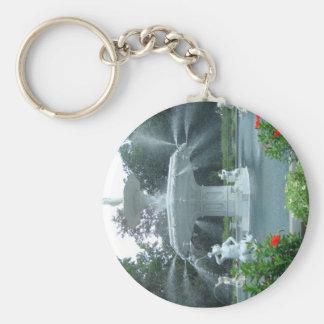 Savannah, Ga Fountain Keychain