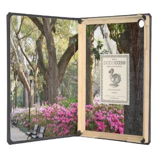 Savannah GA in Spring Forsyth Park Azaleas Oaks Cover For iPad Air