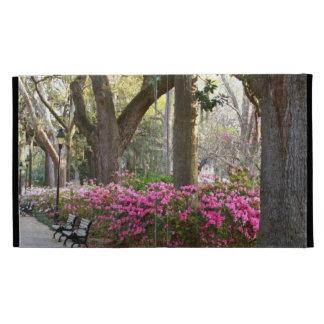 Savannah GA in Spring Forsyth Park Azaleas Oaks iPad Case