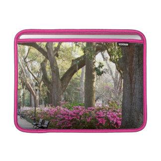 Savannah GA in Spring Forsyth Park Azaleas Oaks MacBook Air Sleeve