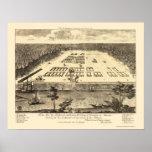 Savannah, GA Panoramic Map - 1734 Print