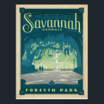 "Savannah, GA Postcard<br><div class=""desc"">Anderson Design Group is an award-winning illustration and design firm in Nashville,  Tennessee. Founder Joel Anderson directs a team of talented artists to create original poster art that looks like classic vintage advertising prints from the 1920s to the 1960s.</div>"