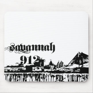 Savannah ga put on for your city line mouse pad