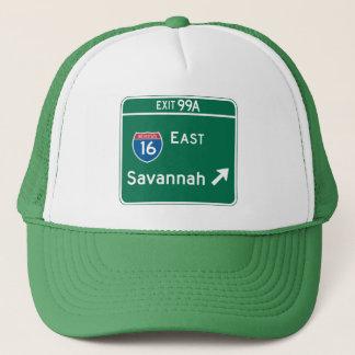 Savannah, GA Road Sign Trucker Hat