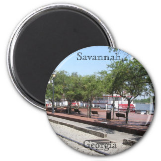 Savannah, Georgia 2 Inch Round Magnet